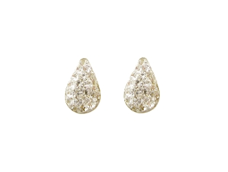 Silver Plated Pear Shape Crystal Earrings