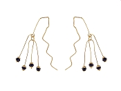 14K Gold Dangling Fashion Earrings