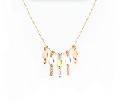 14K Gold Tri Color Necklace