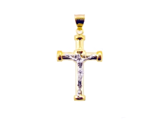 14K Gold Plated Cross Charm Pendant ON SALE